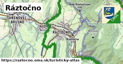 ikona Turistická mapa turisticky-atlas  raztocno
