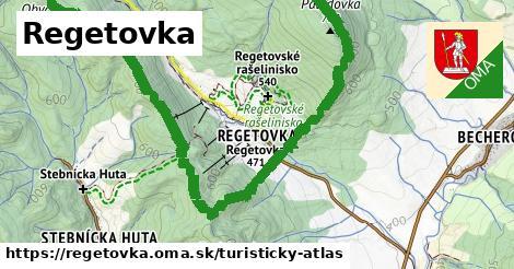 ikona Turistická mapa turisticky-atlas  regetovka