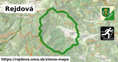 ikona Rejdová: 5,7km trás zimna-mapa  rejdova