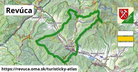 ikona Revúca: 34km trás turisticky-atlas  revuca