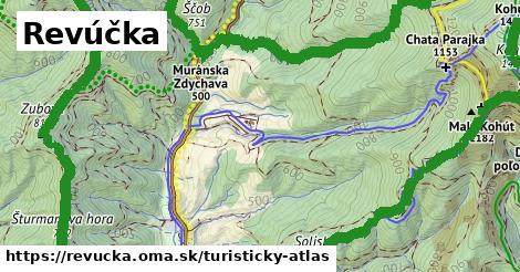 ikona Revúčka: 16km trás turisticky-atlas  revucka