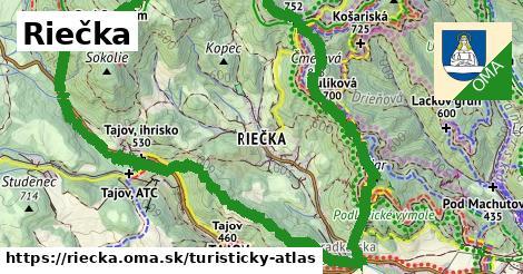 ikona Riečka: 11,3km trás turisticky-atlas  riecka