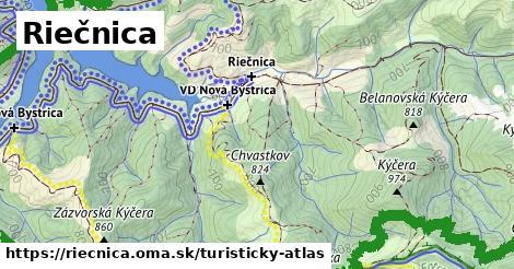 ikona Riečnica: 11,3km trás turisticky-atlas  riecnica