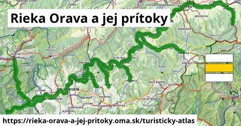 ikona Turistická mapa turisticky-atlas  rieka-orava-a-jej-pritoky