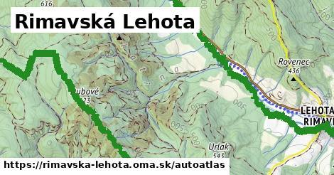 ikona Mapa autoatlas  rimavska-lehota