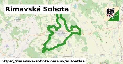 ikona Mapa autoatlas  rimavska-sobota