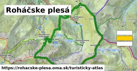 ikona Turistická mapa turisticky-atlas  rohacske-plesa