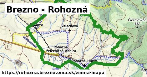 ikona Brezno - Rohozná: 0m trás zimna-mapa v rohozna.brezno