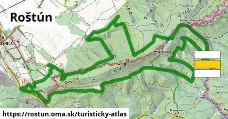 ikona Roštún: 20km trás turisticky-atlas  rostun