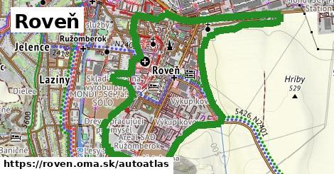 ikona Mapa autoatlas  roven