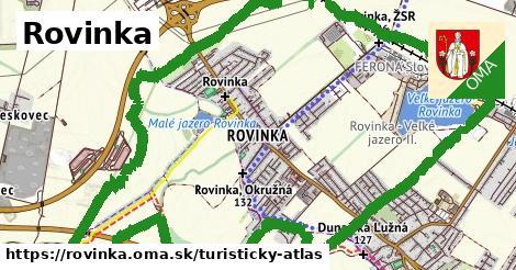 ikona Turistická mapa turisticky-atlas v rovinka