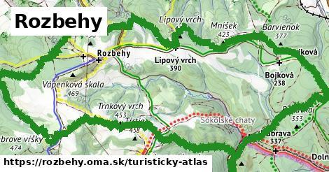 ikona Turistická mapa turisticky-atlas  rozbehy