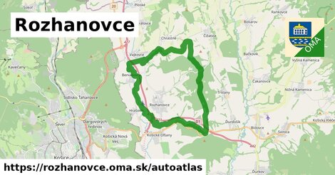 ikona Mapa autoatlas  rozhanovce