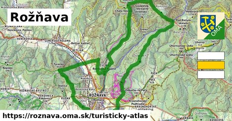 ikona Rožňava: 52km trás turisticky-atlas  roznava