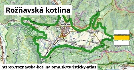 ikona Turistická mapa turisticky-atlas  roznavska-kotlina