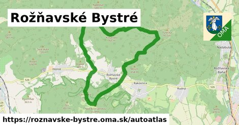 ikona Mapa autoatlas  roznavske-bystre