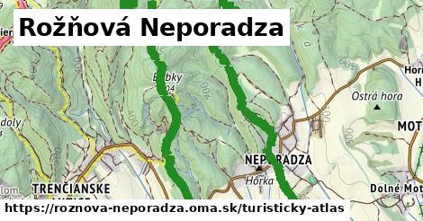 ikona Rožňová Neporadza: 0,81km trás turisticky-atlas  roznova-neporadza