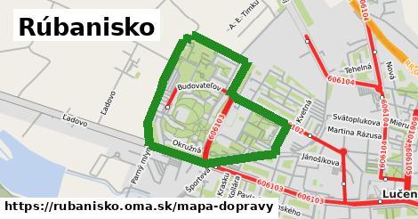ikona Rúbanisko: 5,9km trás mapa-dopravy v rubanisko