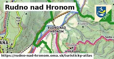 ikona Rudno nad Hronom: 14,8km trás turisticky-atlas  rudno-nad-hronom