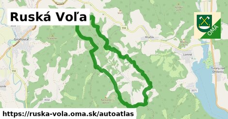 ikona Mapa autoatlas  ruska-vola