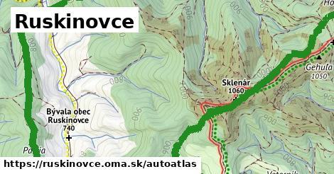 ikona Mapa autoatlas  ruskinovce
