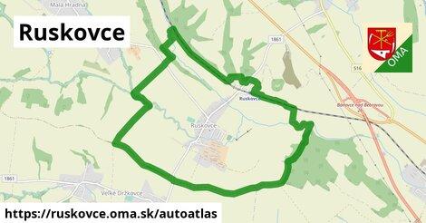 ikona Mapa autoatlas  ruskovce