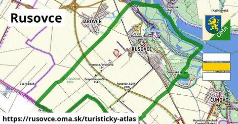 ikona Rusovce: 3,1km trás turisticky-atlas  rusovce
