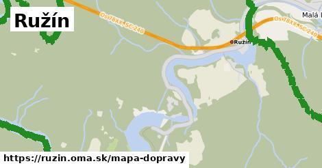 ikona Ružín: 7,5km trás mapa-dopravy  ruzin