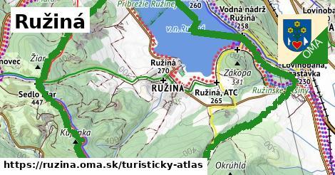 ikona Turistická mapa turisticky-atlas  ruzina