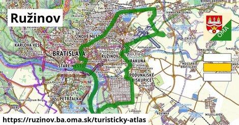 ikona Ružinov: 5,8km trás turisticky-atlas  ruzinov.ba