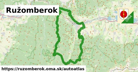 ikona Mapa autoatlas  ruzomberok