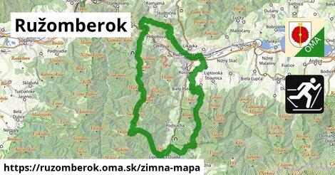 ikona Ružomberok: 5,8km trás zimna-mapa  ruzomberok