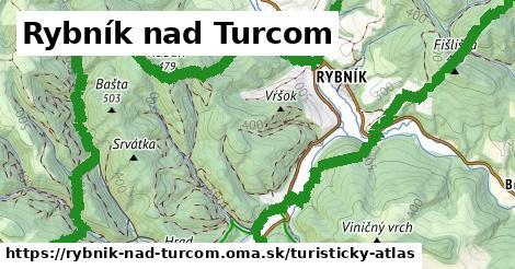 ikona Rybník nad Turcom: 7,9km trás turisticky-atlas  rybnik-nad-turcom
