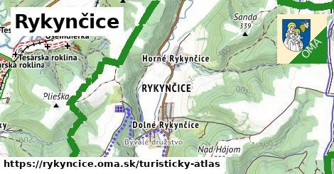 ikona Turistická mapa turisticky-atlas  rykyncice