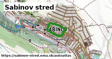 ikona Mapa autoatlas  sabinov-stred