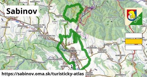 ikona Sabinov: 15km trás turisticky-atlas  sabinov