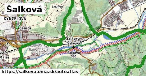 ikona Mapa autoatlas  salkova