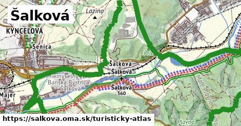 ikona Turistická mapa turisticky-atlas  salkova