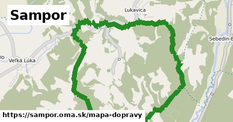 ikona Sampor: 0m trás mapa-dopravy v sampor
