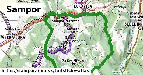 ikona Turistická mapa turisticky-atlas  sampor