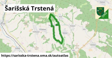 ikona Mapa autoatlas  sarisska-trstena