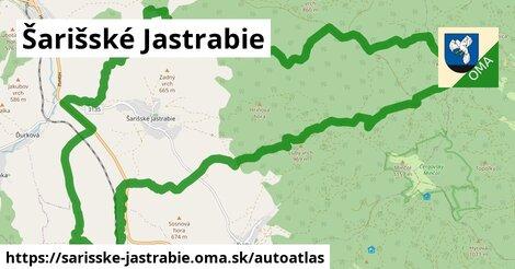 ikona Mapa autoatlas  sarisske-jastrabie