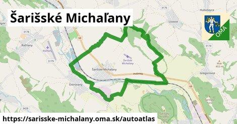 ikona Mapa autoatlas  sarisske-michalany