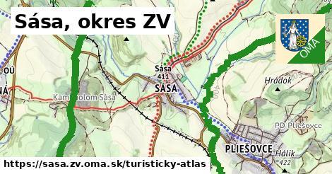 ikona Turistická mapa turisticky-atlas  sasa.zv