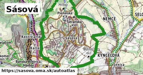 ikona Mapa autoatlas  sasova