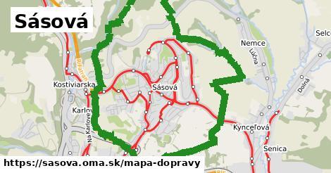ikona Sásová: 59km trás mapa-dopravy  sasova