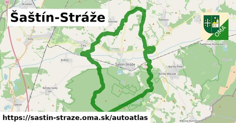 ikona Mapa autoatlas  sastin-straze