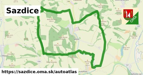 ikona Mapa autoatlas  sazdice