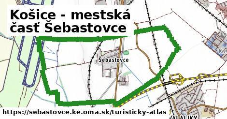 ikona Košice - mestská časť Šebastovce: 0m trás turisticky-atlas v sebastovce.ke