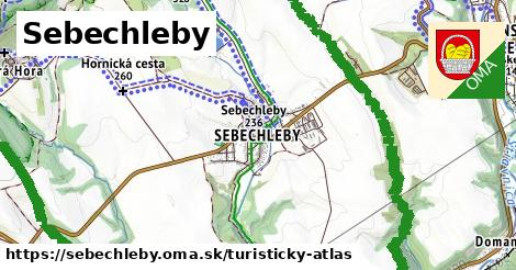ikona Sebechleby: 23km trás turisticky-atlas  sebechleby